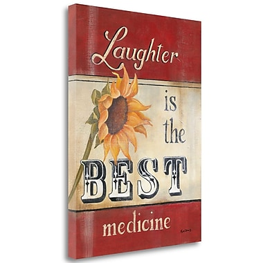 Tangletown Fine Art 'Laughter' Textual Art on Canvas; 42'' H x 32'' W