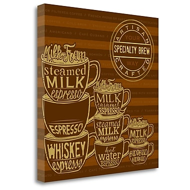 Tangletown Fine Art 'Specialty Brew' Vintage Advertisement on Canvas; 30'' H x 30'' W