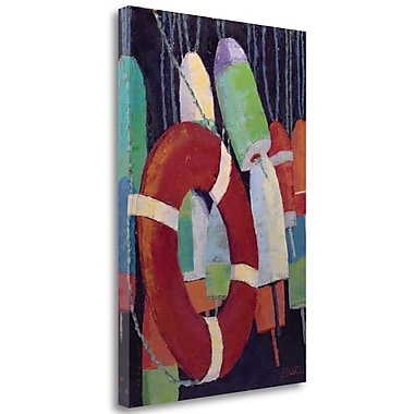 Tangletown Fine Art 'Hanging in There' Print on Canvas; 48'' H x 32'' W