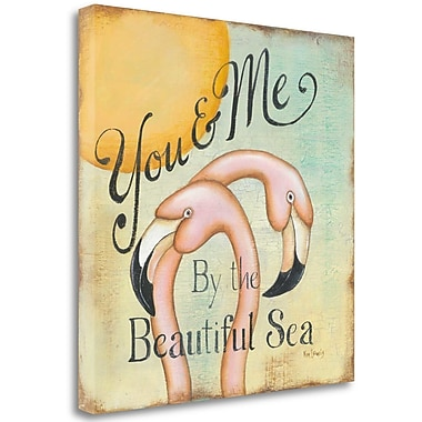 Tangletown Fine Art 'You and Me' Textual Art on Wrapped Canvas; 30'' H x 30'' W