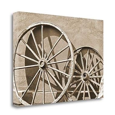 Tangletown Fine Art 'Wheels' Photographic Print on Wrapped Canvas; 24'' H x 36'' W