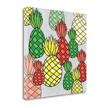 Tangletown Fine Art Tropical Pineapple' Graphic Art Print on Canvas; 20'' H x 20'' W