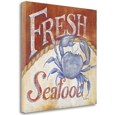 Tangletown Fine Art 'Fresh Seafood' Vintage Advertisement on Canvas; 25'' H x 25'' W