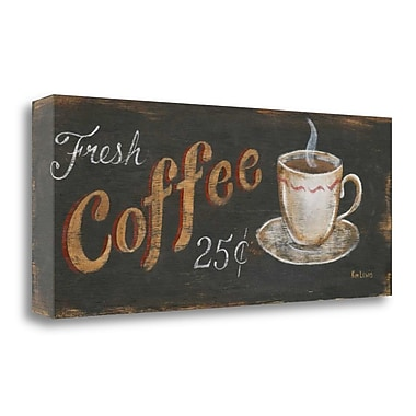 Tangletown Fine Art 'Fresh Coffee 25 Cents' Vintage Advertisement on Canvas; 14'' H x 34'' W