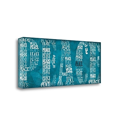Tangletown Fine Art Peace' Textual Art on Canvas; 13'' H x 32'' W
