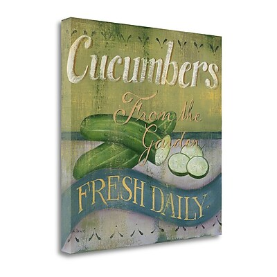 Tangletown Fine Art 'Cucumber' Graphic Art Print on Wrapped Canvas; 29'' H x 29'' W