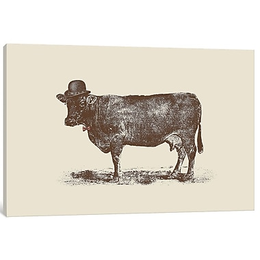 East Urban Home 'Cow Cow Nut' Painting Print on Wrapped Canvas; 8'' H x 12'' W x 0.75'' D