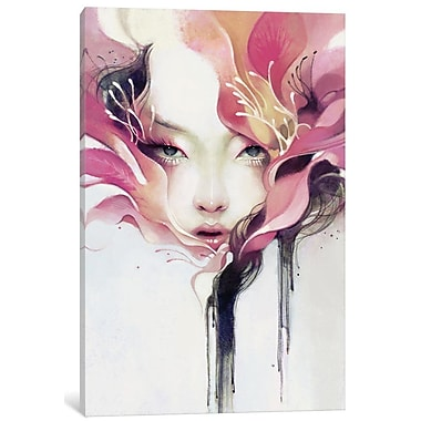 East Urban Home 'Bauhinia' Painting Print on Wrapped Canvas; 40'' H x 26'' W x 1.5'' D