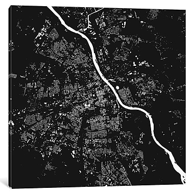 East Urban Home 'Warsaw' Graphic Art on Wrapped Canvas; 18'' H x 18'' W x 0.75'' D