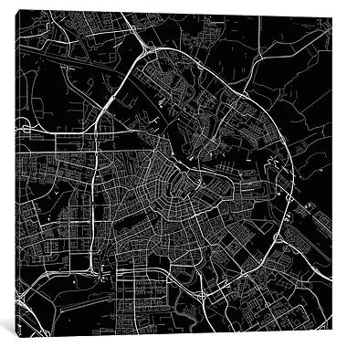 East Urban Home 'Amsterdam Roadway' Graphic Art on Wrapped Canvas; 18'' H x 18'' W x 0.75'' D
