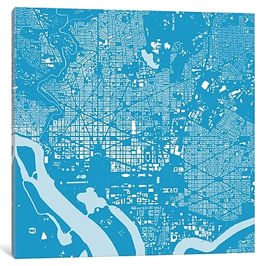 East Urban Home 'Washington D.C.' Square Graphic Art on Wrapped Canvas; 37'' H x 37'' W x 0.75'' D