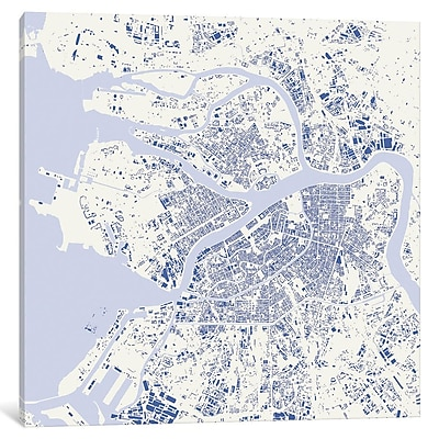 East Urban Home 'St. Petersburg' Graphic Art on Wrapped Canvas in Purple; 12'' H x 12'' W x 0.75'' D