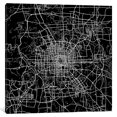 East Urban Home 'Beijing' Square Graphic Art on Wrapped Canvas; 18'' H x 18'' W x 0.75'' D