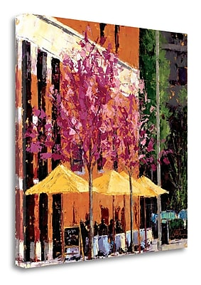 Tangletown Fine Art 'Cafe Near The Castle Green' Print on Wrapped Canvas; 35'' H x 35'' W