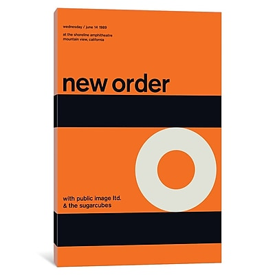 'New Order at The Shoreline Amphitheatre June 14th, 1989' Textual Art on Wrapped Canvas