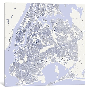 East Urban Home 'New York City' Square Graphic Art on Wrapped Canvas; 18'' H x 18'' W x 1.5'' D