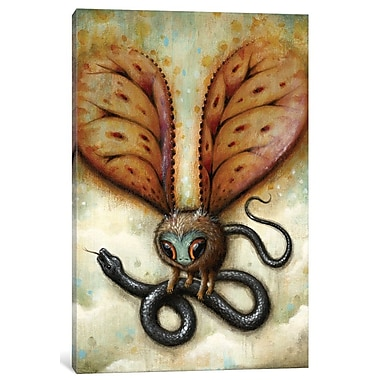East Urban Home 'Stop Squirming!' Painting Print on Wrapped Canvas; 60'' H x 40'' W x 1.5'' D