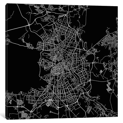 East Urban Home 'St. Petersburg Roadway' Graphic Art on Wrapped Canvas in Black