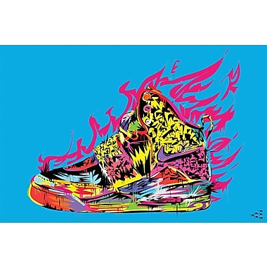 East Urban Home 'Air Yeezy' Graphic Art on Wrapped Canvas; 18'' H x 26'' W x 1.5'' D