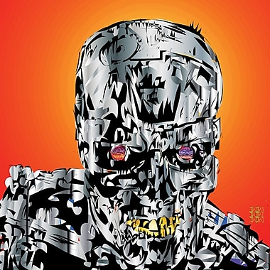 East Urban Home 'The Terminator' Graphic Art on Wrapped Canvas; 37'' H x 37'' W x 0.75'' D