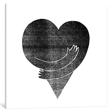 East Urban Home 'Love' Graphic Art on Wrapped Canvas; 37'' H x 37'' W x 0.75'' D