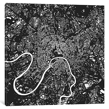 East Urban Home 'Moscow' Hanging Graphic Art on Wrapped Canvas; 12'' H x 12'' W x 0.75'' D