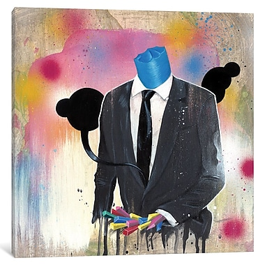 East Urban Home 'Suit Guy' Painting Print on Wrapped Canvas; 12'' H x 12'' W x 0.75'' D