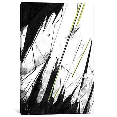 East Urban Home '102' Painting Print on Wrapped Canvas; 12'' H x 8'' W x 0.75'' D