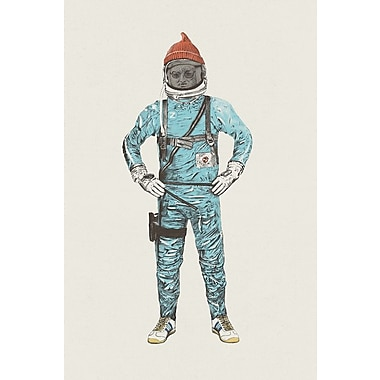 East Urban Home 'Zissou in Space' Graphic Art on Wrapped Canvas; 40'' H x 26'' W x 1.5'' D