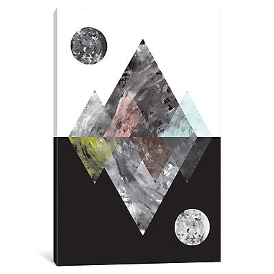 East Urban Home 'Worlds Reflected' Graphic Art on Wrapped Canvas; 18'' H x 12'' W x 0.75'' D