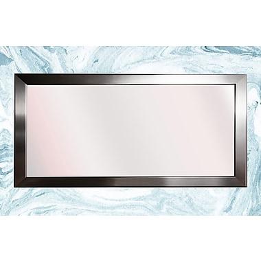 Orren Ellis Rounded Vanity Full Length Mirror; 29'' H x 56'' W