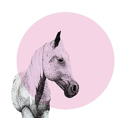 East Urban Home 'Speckled Horse' Graphic Art on Wrapped Canvas; 18'' H x 18'' W x 0.75'' D
