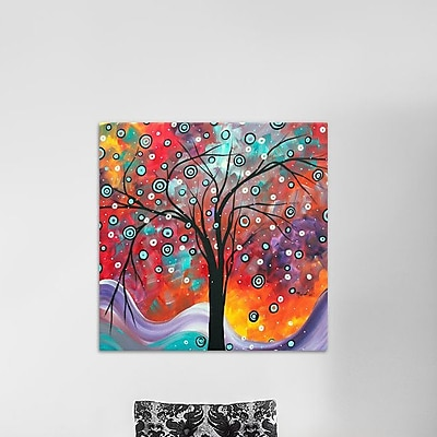 East Urban Home 'Snow Fall' Painting Print on Wrapped Canvas; 18'' H x 18'' W x 1.5'' D