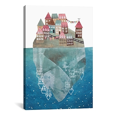 East Urban Home 'Iceberg Island' Graphic Art on Wrapped Canvas; 26'' H x 18'' W x 0.75'' D