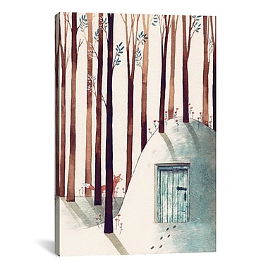 East Urban Home 'Forest Fox' Graphic Art on Wrapped Canvas; 60'' H x 40'' W x 1.5'' D