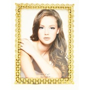 Rosdorf Park Plating Solid Pewter Picture Frame; Gold
