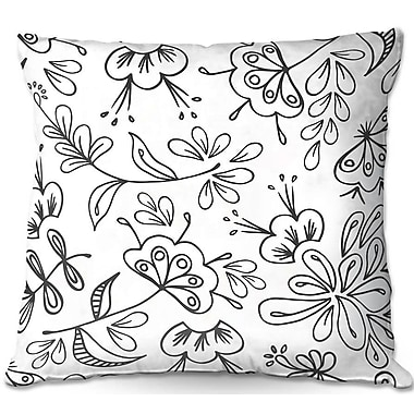 East Urban Home Band w/ Flora Throw Pillow; 22'' H x 22'' W x 5'' D