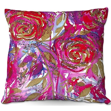 East Urban Home Rose Combustion Throw Pillow; 22'' H x 22'' W x 5'' D