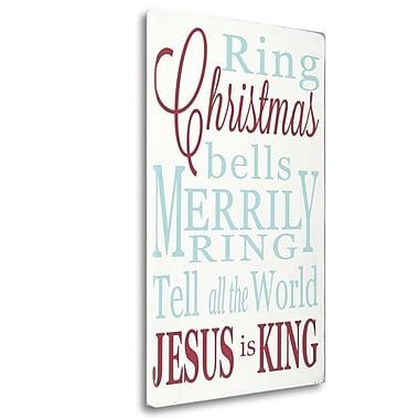 Tangletown Fine Art 'Jesus is King' Textual Art on Canvas; 28'' H x 18'' W