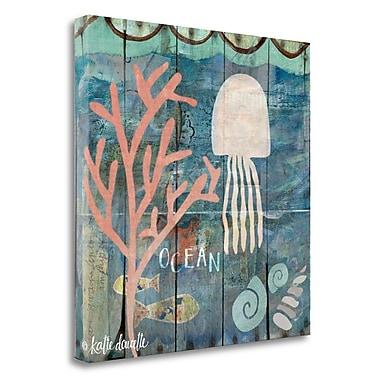 Tangletown Fine Art 'Ocean Jellyfish' Graphic Art on Canvas; 26'' H x 26'' W