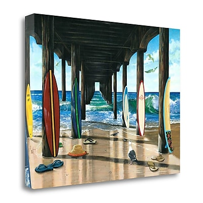 Tangletown Fine Art 'Pier Group' Graphic Art Print on Canvas; 21'' H x 29'' W
