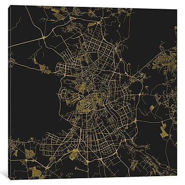 East Urban Home 'St. Petersburg Roadway' Graphic Art on Wrapped Canvas in Yellow