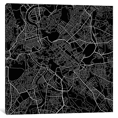 East Urban Home 'Rome Roadway' Rectangle Graphic Art on Wrapped Canvas in Black