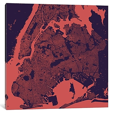 East Urban Home 'New York City' Framed Graphic Art on Wrapped Canvas; 18'' H x 18'' W x 0.75'' D