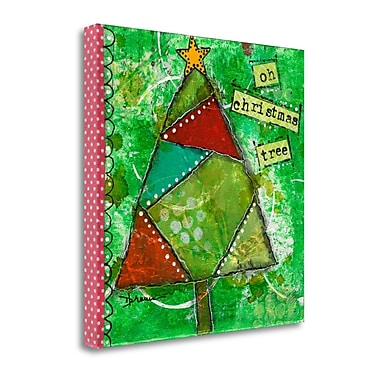 Tangletown Fine Art 'Oh Christmas Tree I' Graphic Art on Canvas; 35'' H x 35'' W