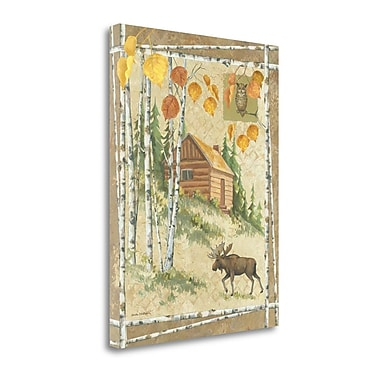 Tangletown Fine Art 'Moose Cabin' Graphic Art Print on Canvas; 42'' H x 32'' W