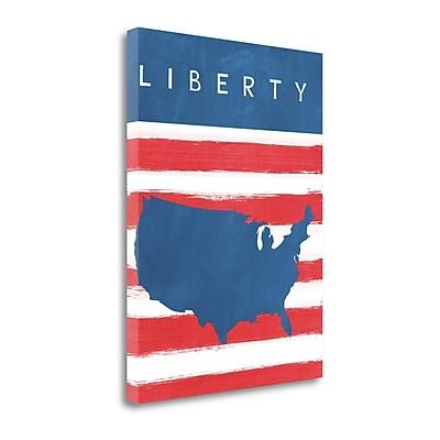 Tangletown Fine Art 'Liberty' Graphic Art Print on Canvas; 32'' H x 24'' W