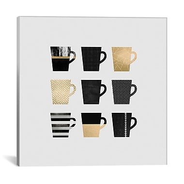 East Urban Home 'Coffee Mugs' Graphic Art on Wrapped Canvas; 26'' H x 26'' W x 1.5'' D