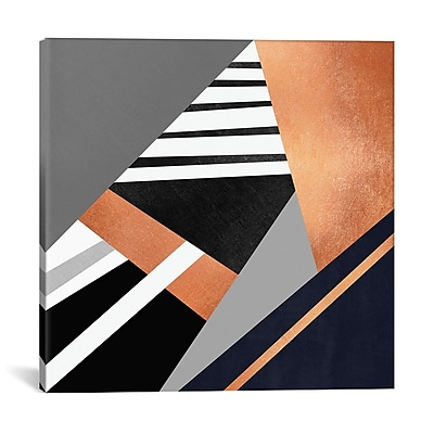 East Urban Home 'Geometric Combination II' Graphic Art on Wrapped Canvas; 37'' H x 37'' W x 0.75'' D