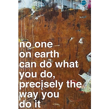 East Urban Home 'No One I' Textual Art on Wrapped Canvas; 18'' H x 12'' W x 1.5'' D